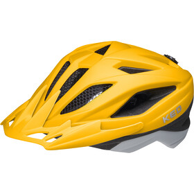 KED Street Jr. Pro Casque Enfant, yellow grey matt